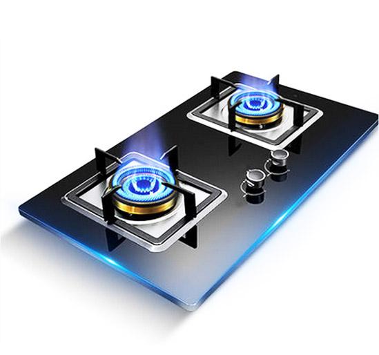 柏泉钢化玻璃液化气灶